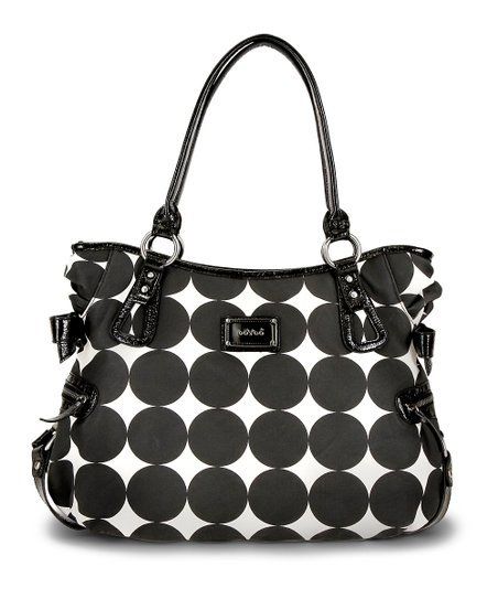 Black Dots Christina Hobo Diaper Bag