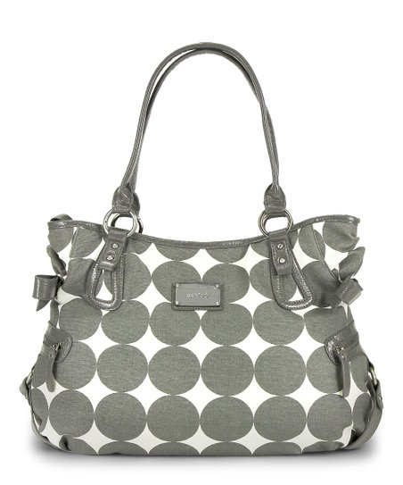 Dove Gray Dots Christina Hobo Diaper Bag