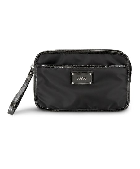 Black Noir Bella Crossbody Diaper Bag