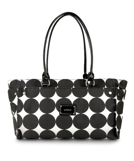 Black Dots Anna Wide Diaper Bag