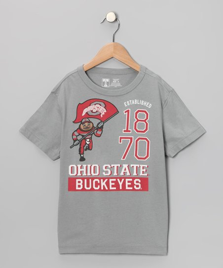 Gray Ohio State 'Buckeyes 1870' Tee - Kids