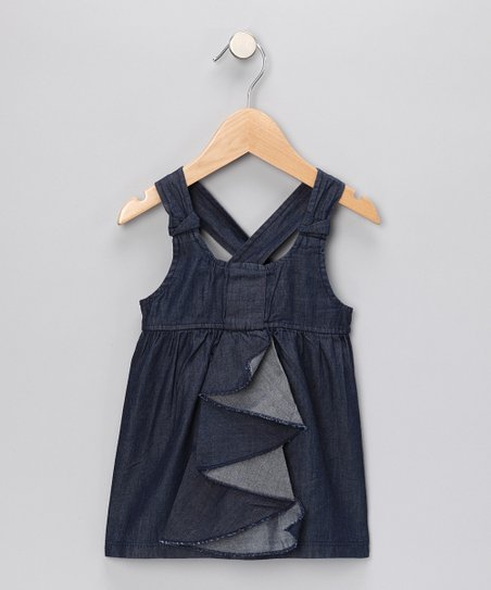Indigo Ruffle Top - Infant, Toddler & Girls