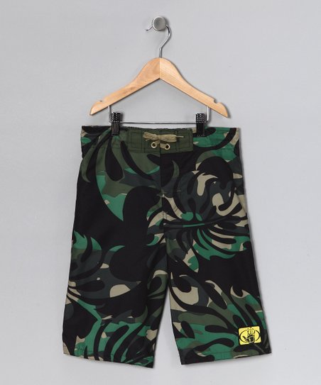 Body Glove Black Camo Boardshorts - Boys