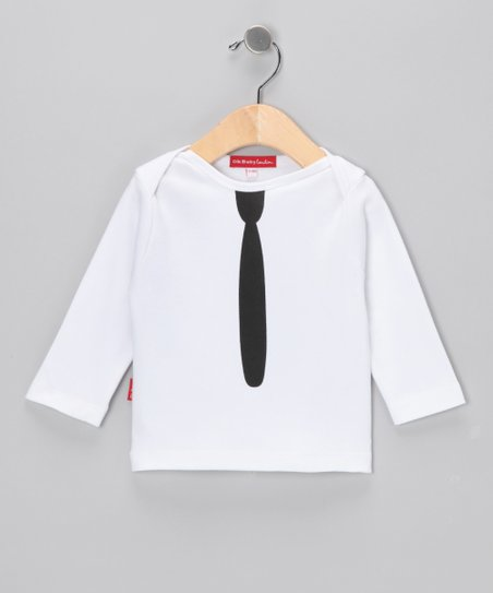 Oh Baby London White Tie Tee - Infant, Toddler &amp; Kids