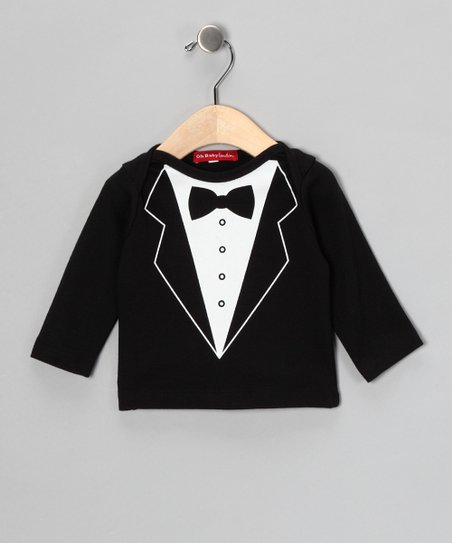Oh Baby London Black Tuxedo Tee - Infant & Kids