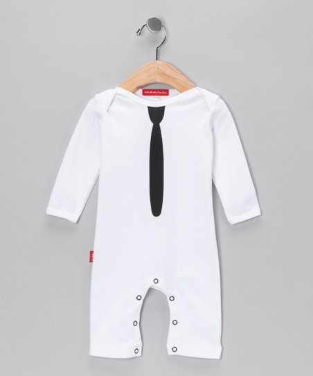 Oh Baby London White Tie Playsuit - Infant