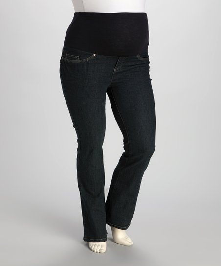 Rinse Swirl Over-Belly Maternity Bootcut Jeans - Women