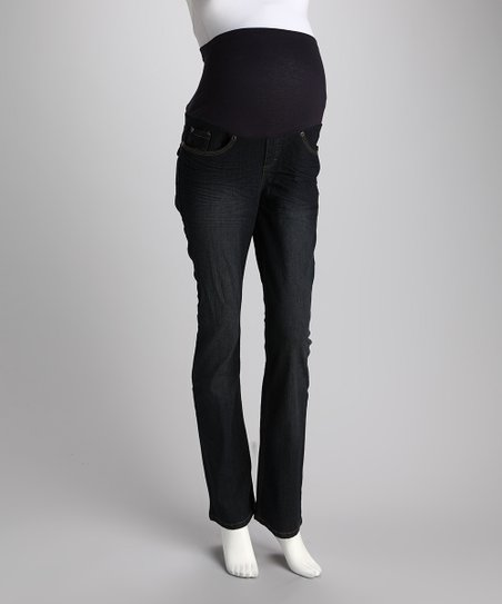 Rinse Wash Over-Belly Maternity Bootcut Jeans