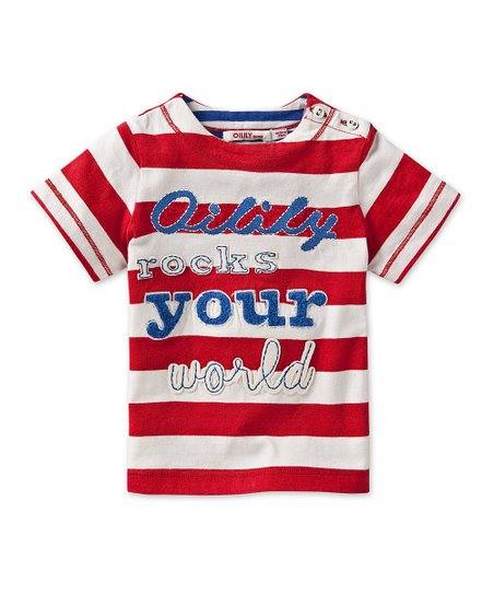 Red &#039;Rocks Your World&#039; Tee - Infant, Toddler &amp; Boys