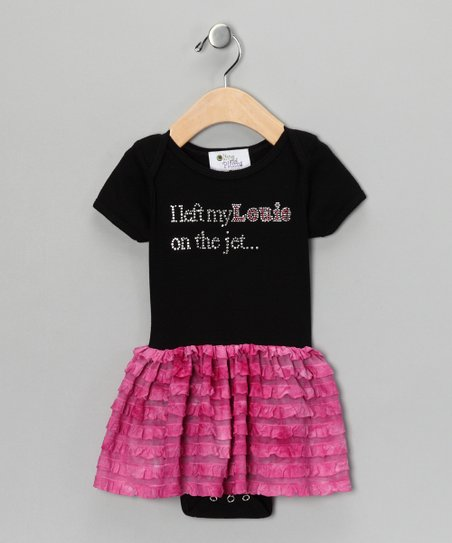 Pink 'Left My Louie' Dress - Infant, Toddler & Girls