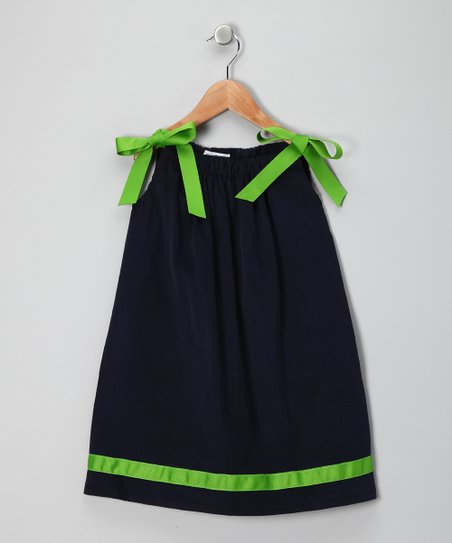 Navy Swing Dress - Girls