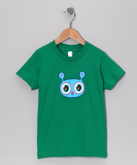 Olly Oogleberry Green Faceman Tee - Boys