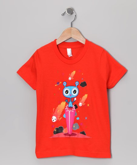 Olly Oogleberry Orange Pedestal Tee - Boys