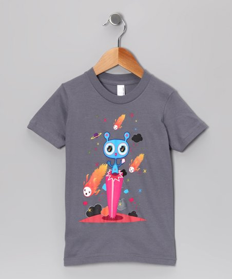 Olly Oogleberry Slate Pedestal Tee - Boys