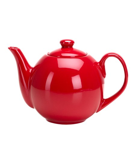 Large Red Infuser Teapot
