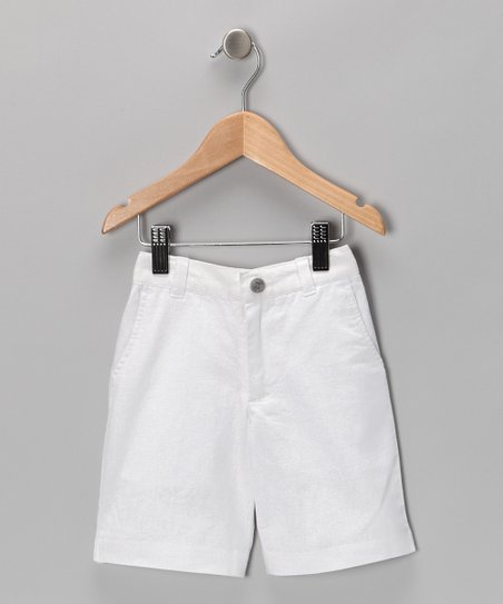 White Dress Shorts - Toddler & Boys