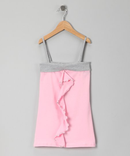 Pink & Gray Shift Dress - Toddler & Girls