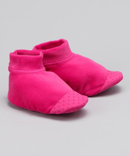 Fuchsia Velour Slipper