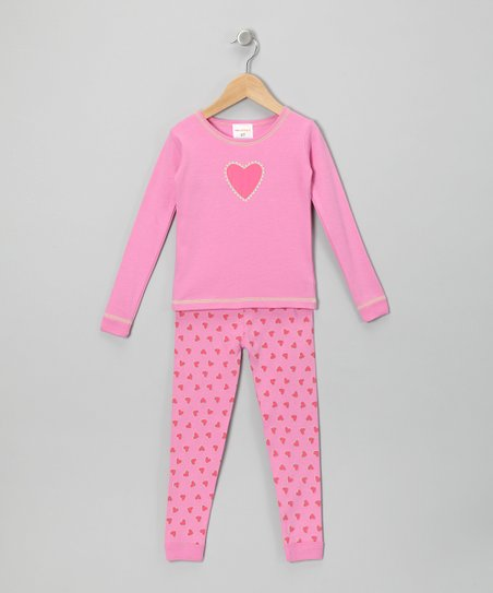 Pink Heart Pajama Set - Infant & Toddler