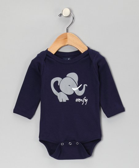 Navy Novu the Elephant Bodysuit - Infant