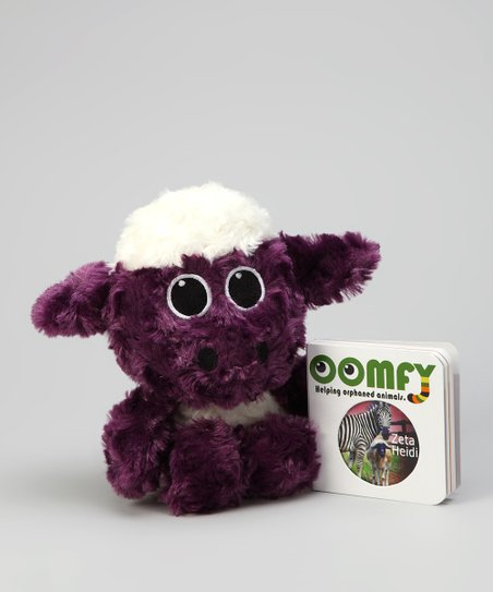 Purple Small Heidi the Sheep Plush Toy & Board Book