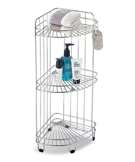 Chrome Three-Tier Corner Shelf