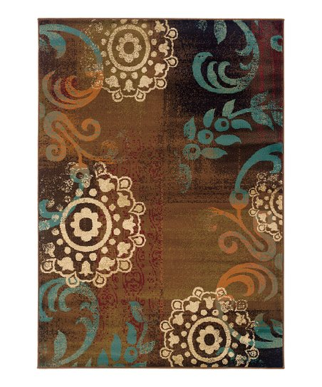 Brown & Teal Elliot Rug