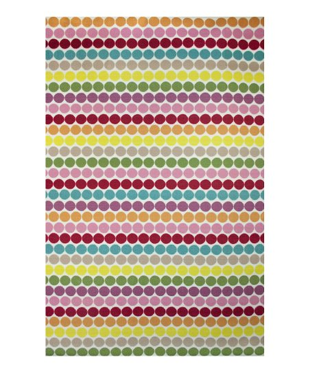 zulily-Exclusive Retro Dot Rug