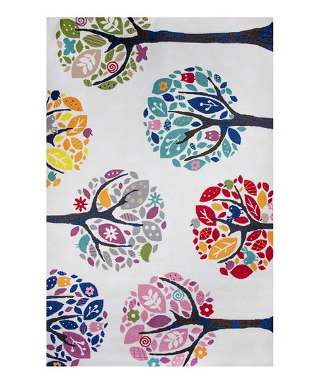 zulily-Exclusive Peace Trees Rug