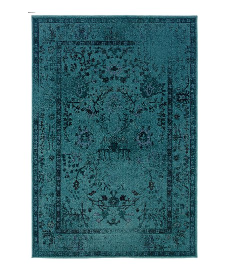 Teal Ornate Renaissance Rug