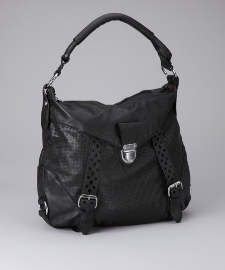 Black & Silver Perforated Tote