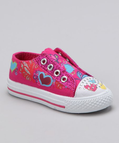 Fuchsia Princess Slip-On Sneaker