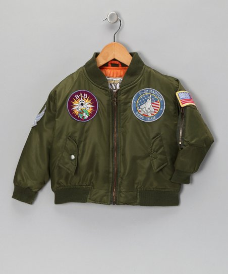 Olive Green Bomber Jacket - Toddler & Boys