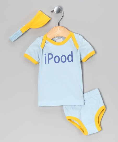 Blue 'iPood' Tee Set - Infant
