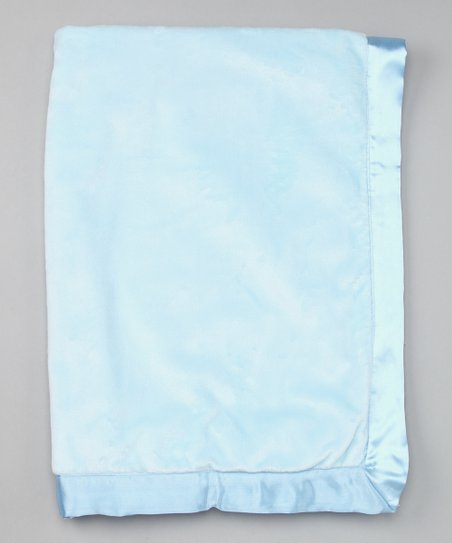 Blue Plush Stroller Blanket