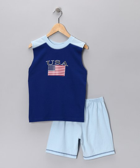 USA Tank &amp; Shorts - Infant, Toddler &amp; Boys