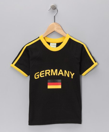 Black 'Germany' Flag Tee - Infant, Toddler & Kids
