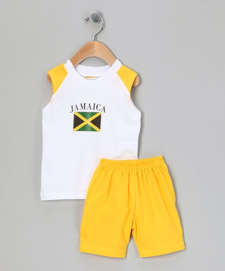 Gold 'Jamaica' Tank & Shorts - Infant, Toddler & Kids