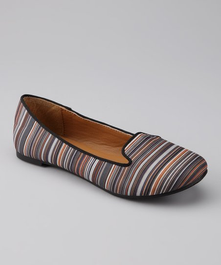 Black Stripe Jodi Flat