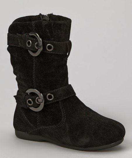 Black Loretta Zip-Up Boot