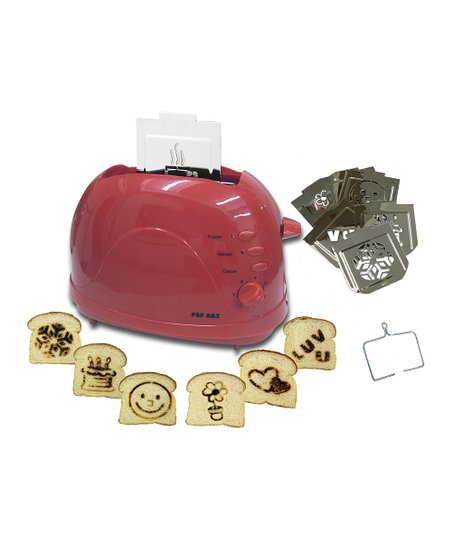 Red Deluxe Family Fun Six-Image Toaster