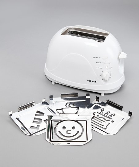 White Four-Image Toaster