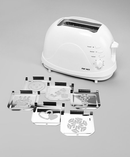 White Deluxe Family Fun Six-Image Toaster