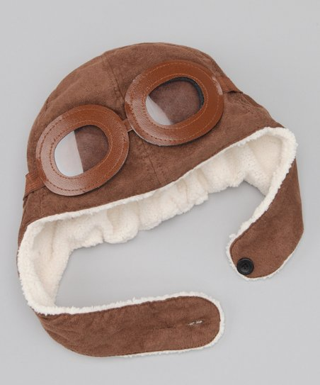 Brown Sherpa Earflap Beanie & Mask