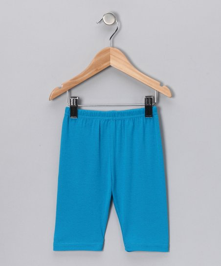 Turquoise Bike Shorts - Girls