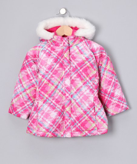 Pink Plaid Jacket - Toddler