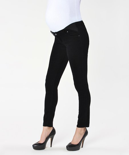 Black Overdye Verdugo Under-Belly Maternity Skinny Jeans