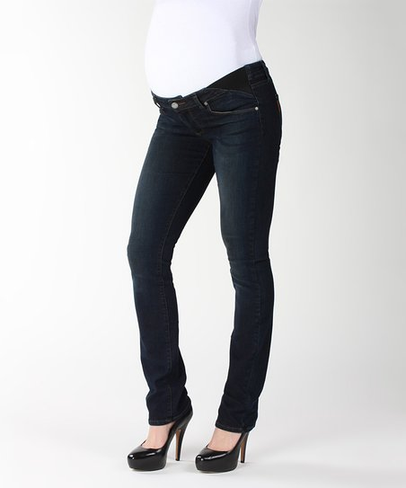 Fairbanks Skyline Under-Belly Maternity Straight-Leg Jeans