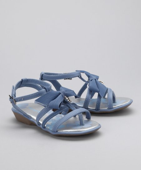 Blue Ribbon Bow Sandal