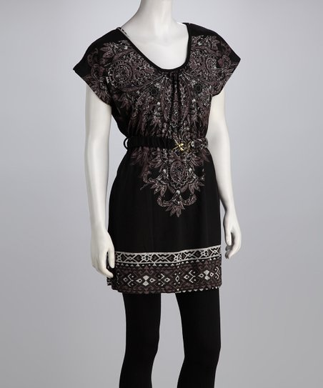 Black & White Paisley Dress